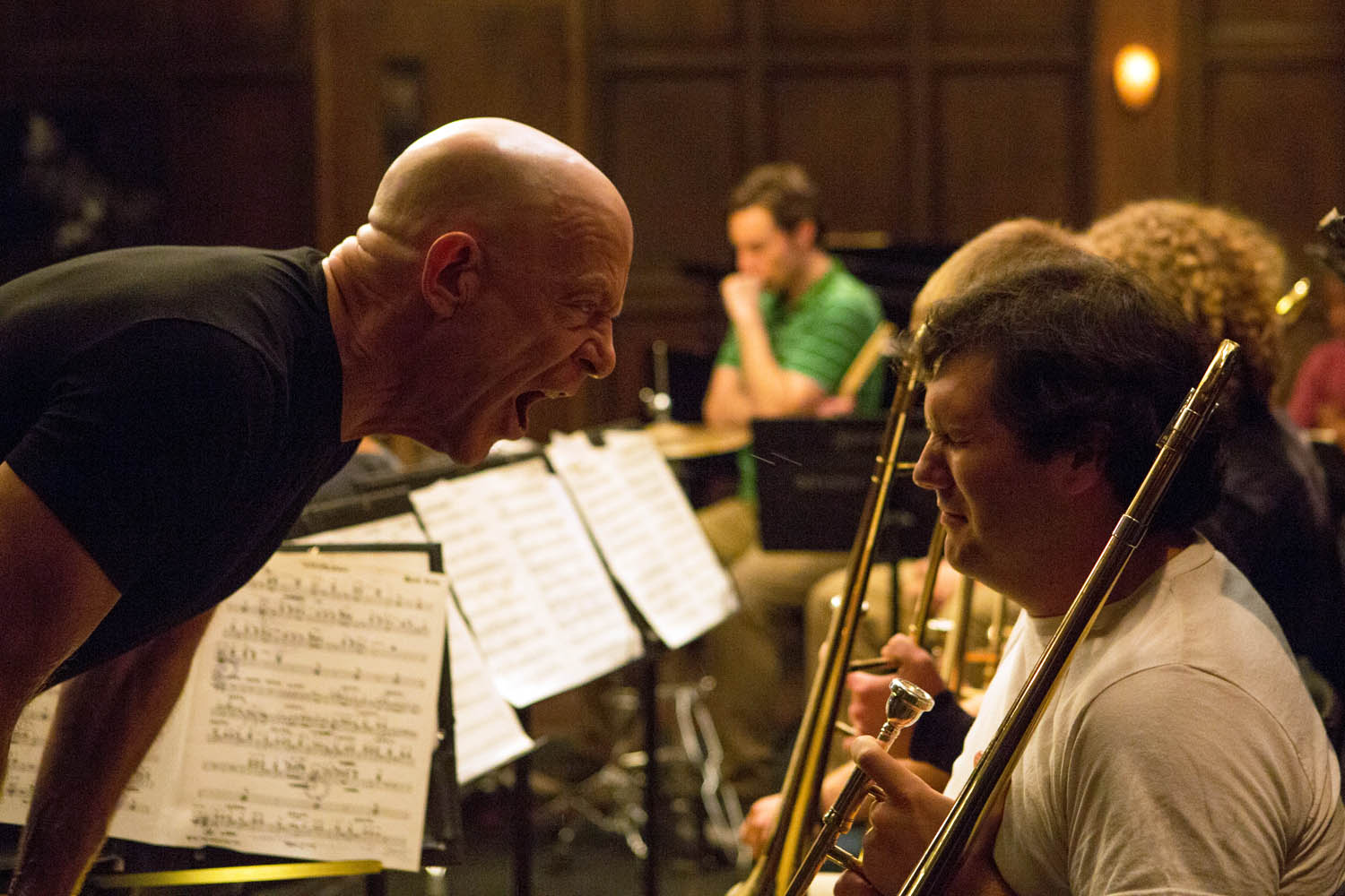WHIPLASH - 2014 FILM STILL - JK Simmons as Fletcher - Photo Credit: Photo Credit: Daniel McFadden Courtesy of Sony Pictures Classics